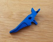 Retro ARMS CNC Custom Straight Trigger - Light Blue (Type J)