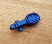Retro ARMS CNC Aluminum Bolt Catch for M4 - Blue