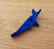 Retro ARMS CNC Custom Straight Trigger - Blue (Type J)