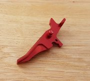Retro ARMS CNC Custom Straight Trigger - Red (Type J)