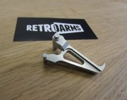 Retro ARMS CNC AK Straight Trigger - Silver (Type A)