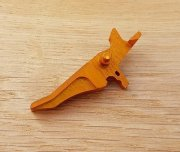 Retro ARMS CNC Custom Straight Trigger - Orange (Type J)