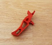 Retro ARMS CNC Custom Straight Trigger - Red (Type I)