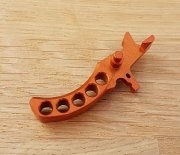 Retro ARMS CNC Custom Straight Trigger - Orange (Type G)