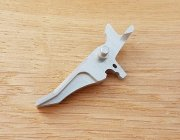 Retro ARMS CNC Custom Straight Trigger - Silver (Type J)