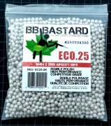 BB Bastard .25g Eco 2000rd Double-Polish 6mm BB's (Beige)