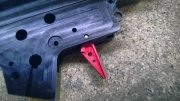 Retro ARMS CNC Custom Straight Trigger - Red (Type A)