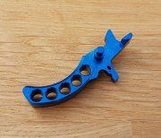 Retro ARMS CNC Custom Straight Trigger - Light Blue (Type G)